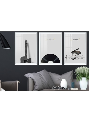Çerçeve Home  Record Beyaz Çerçeve Tablo Seti Beyaz